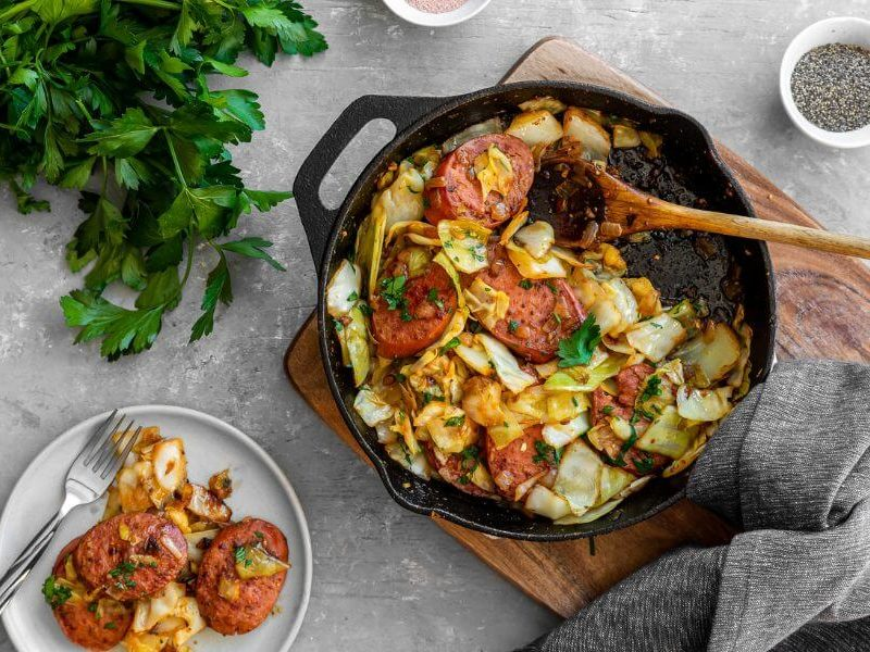 Cabbage Sausage Skillet – Sausage and Cabbage – Fitness Club